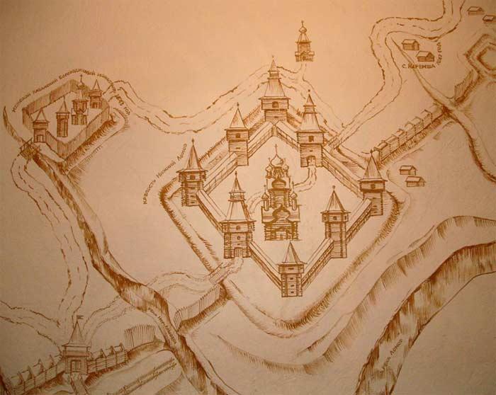 Нижний Ломов План-схема города